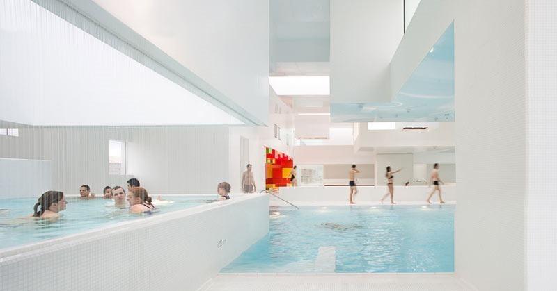 Les Bains des Docks public pool in Le Havre France