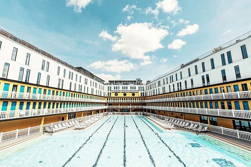 Piscine Molitor in Paris ( used to be a public pool)