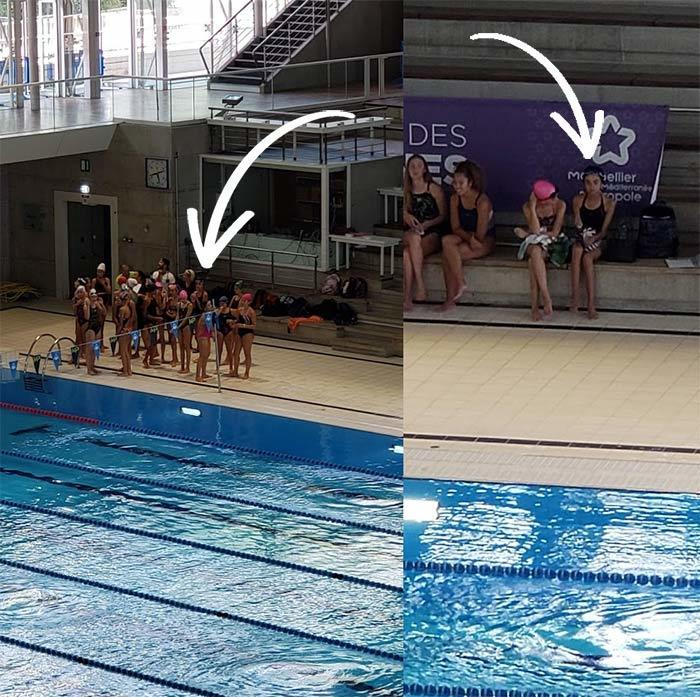 My daughters Synchronized swimming club practice in Montpellier France