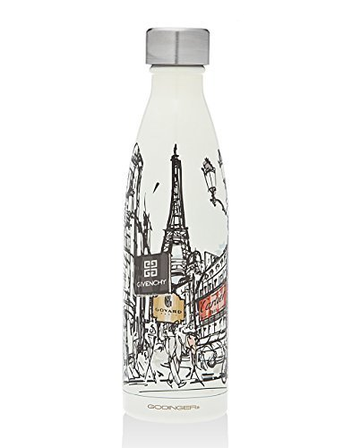 Paris themed insulated water bottle