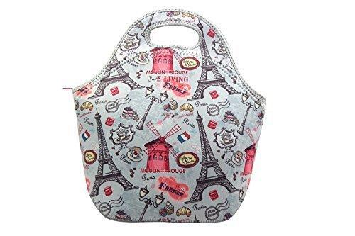 Paris themed thermal lunch bag for kids
