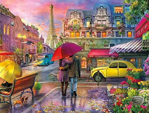 Raining in Paris 750 Piece Jigsaw Puzzle