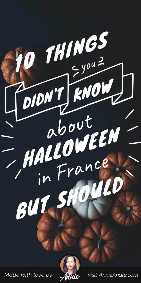 Pintrest pin about French Halloween