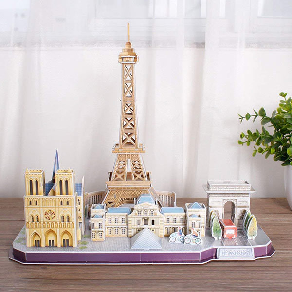 paris-skyline 3D puzzle: a French inspired gift for kids