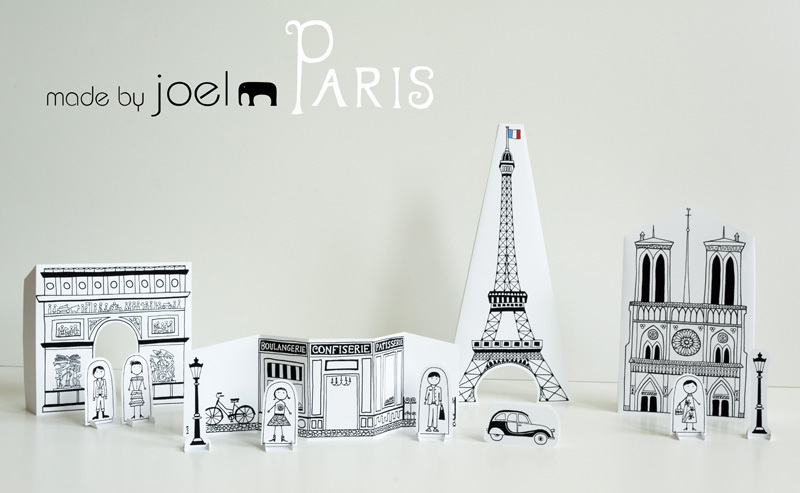 Free printable paper Paris city for kids of all ages