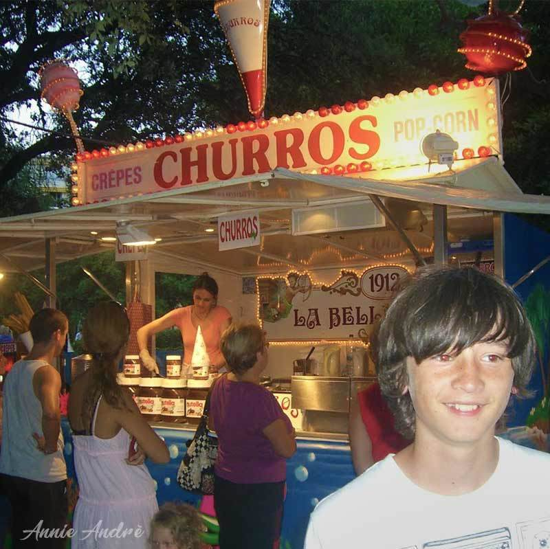 Churros are a staple at Christmas markets and fairs across France
