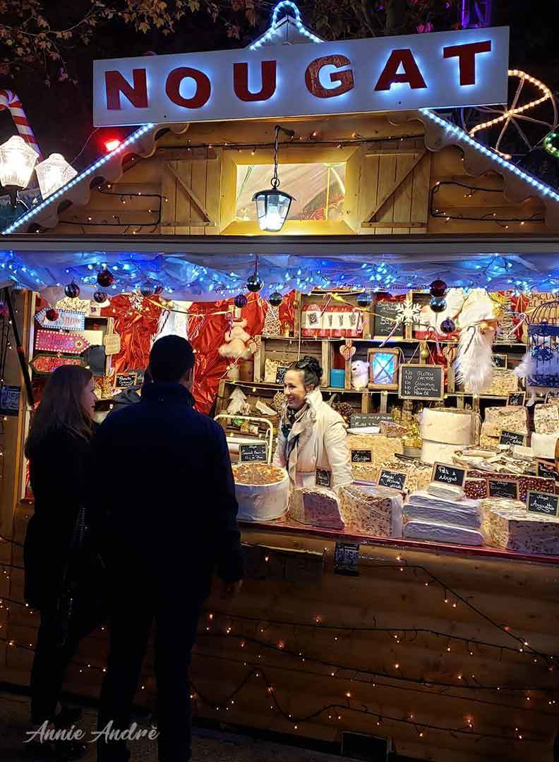 photo of Nougat chalet in Montpellier France Christmas market