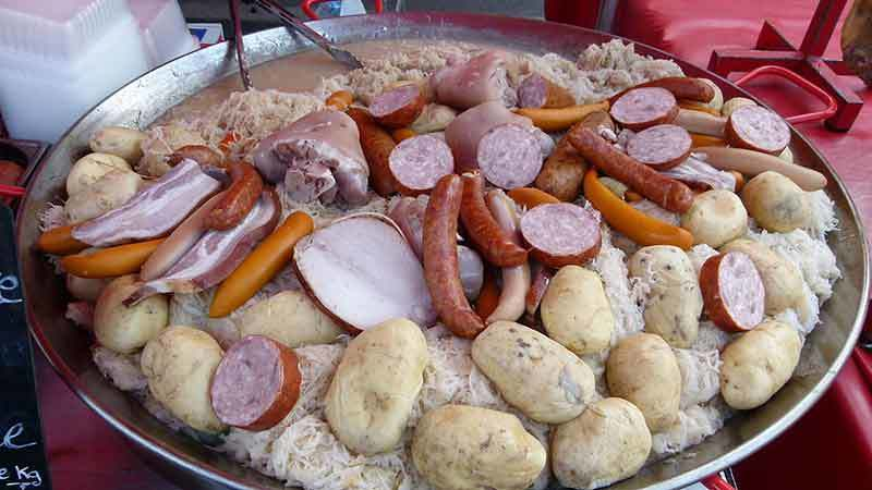 Choucroute at Christmas market