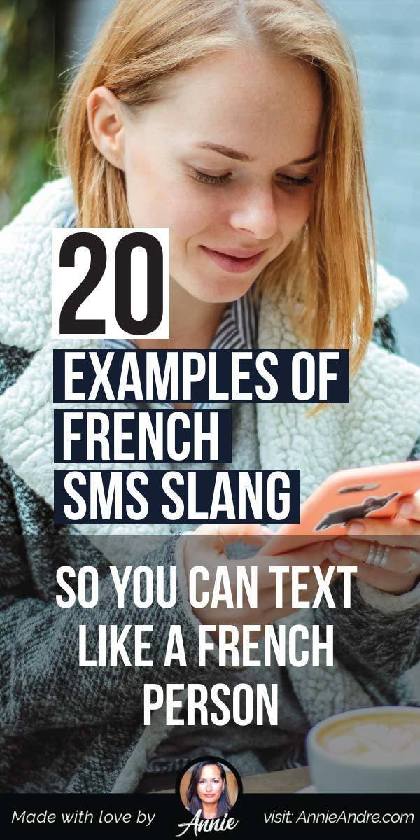 pintrest pin about 20 Useful French Texting Slang Abbreviations For Messaging