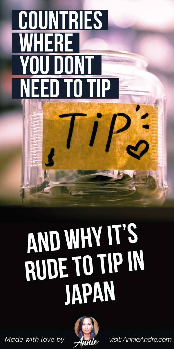 pintrest pin about 10 Countries Where You Dont Need To Tip