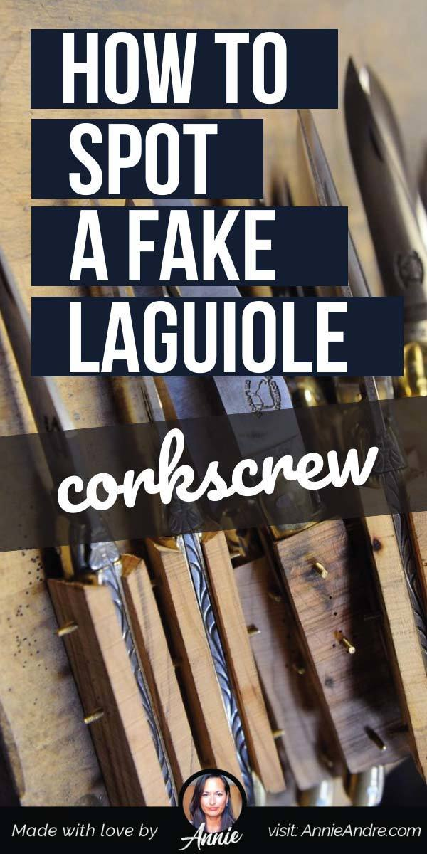pintrest pin about How To Spot A Fake Laguiole Waiter's Corkscrew