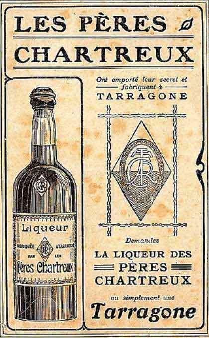 Old poster of Cartreux digestive frink