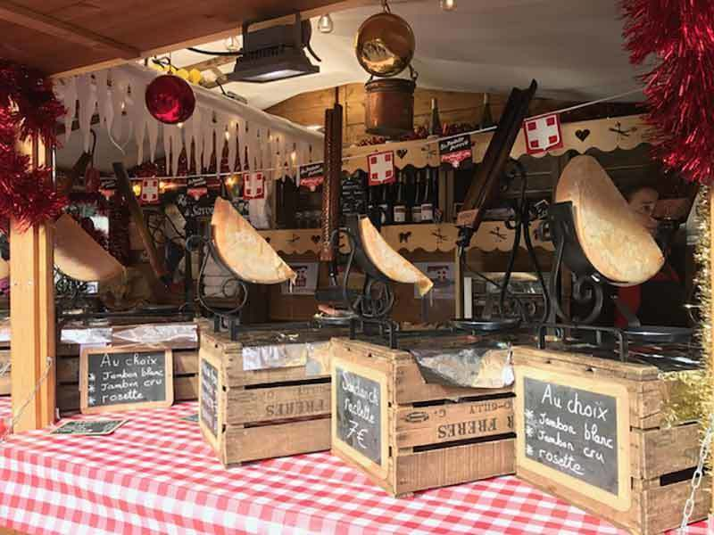 Raclette chalet at Annecy Christmas Market