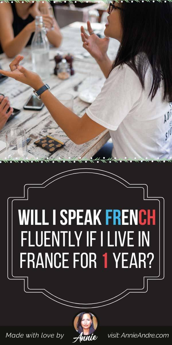 pintrest pin about if you (or my child) Speak French Fluently If I Live In France For 1 year?