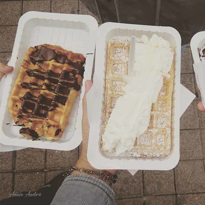 Belgian Waffles with Nutella and Whipped cream: Always a favourite at Christmas markets