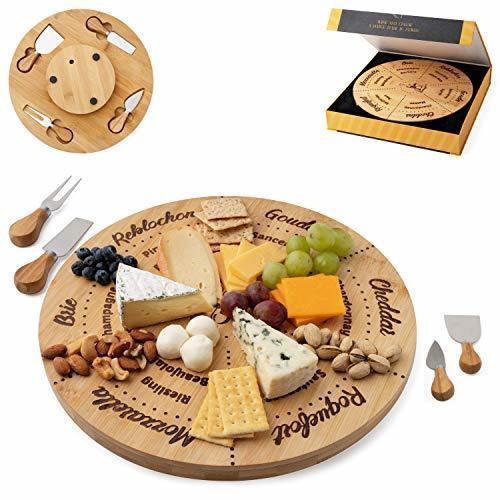 Wine Pairing Lazy Susan Cheese Board Set