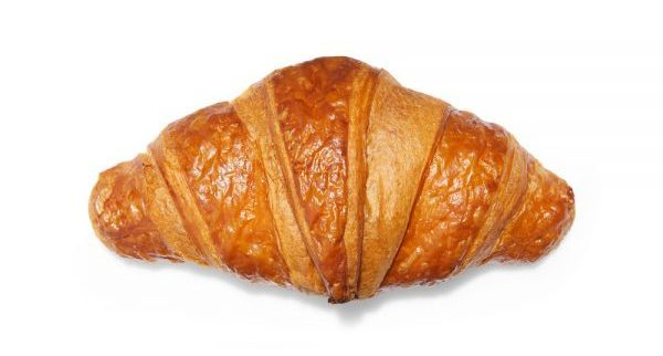 Butter croissant with straight tips