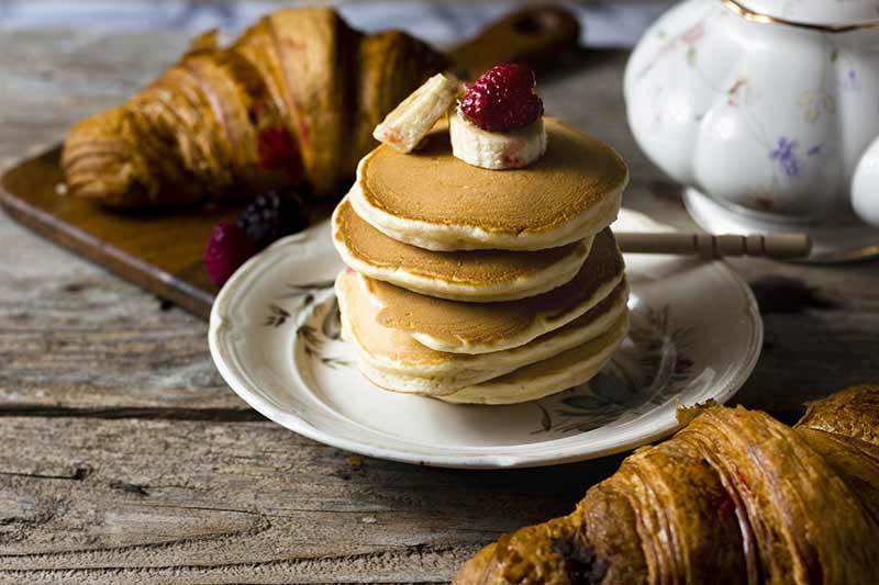 Photo of croissants and pancakes