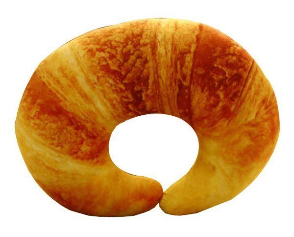 croissant airplane pillow