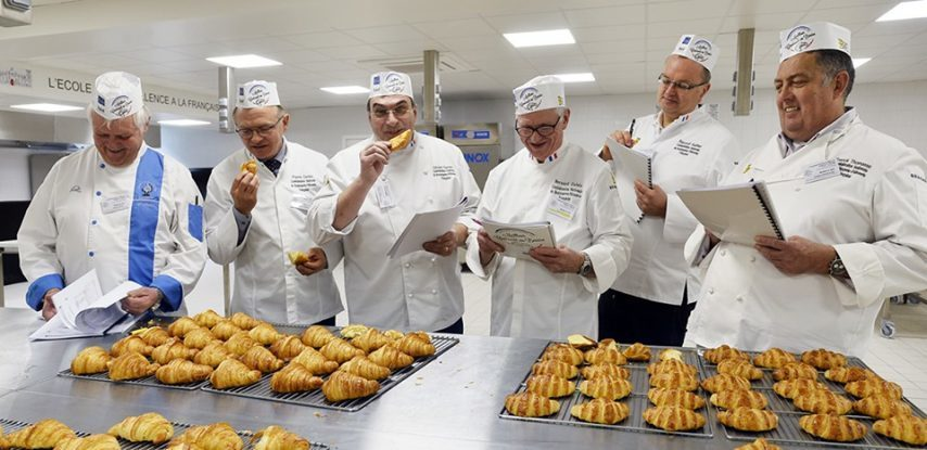 Photo: best croissant in France competition judges