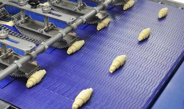 industrial made croissants in the factory