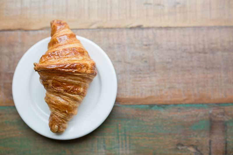 photo of French croissant au beurre