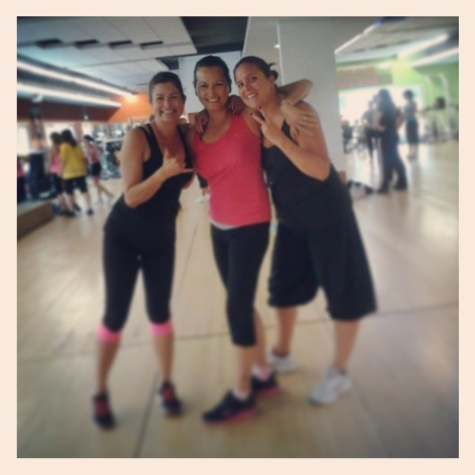 me and some friends after a Zumba class in La Garde France: it's also a great Beginner Home Workout you can do at home