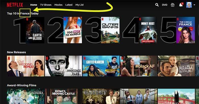 Screenshot of Netflix France