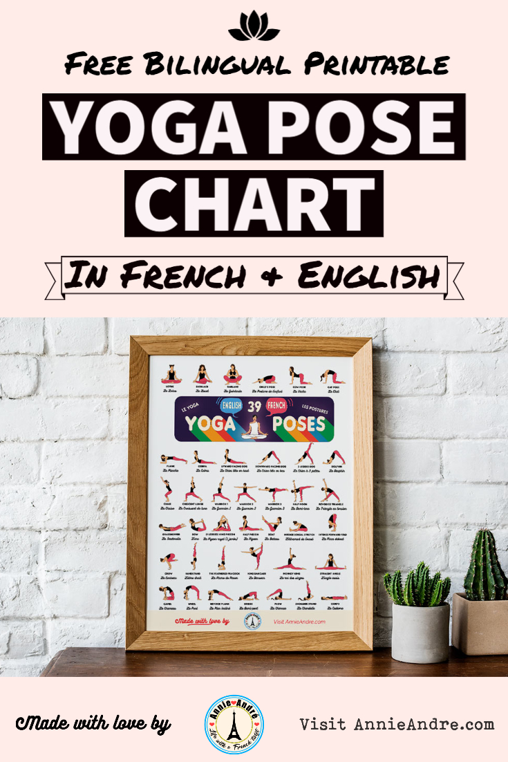 Yoga In French 39 Yoga Poses In French And English Printable Pdf