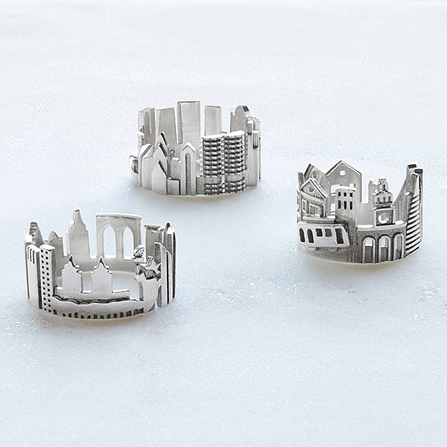 Cityscape Ring: Sterling Silver
