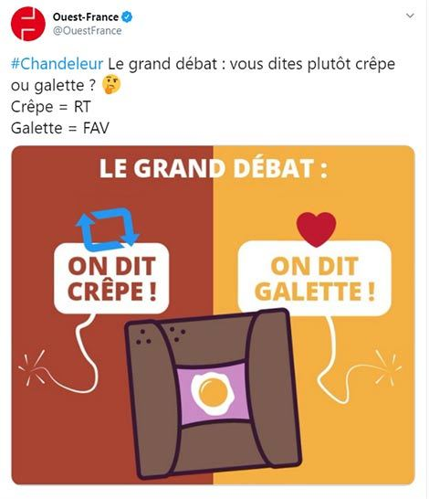 Crepe or galette: parts of France argue over whether a salty crepe, buckwheat crepe should be called a galette or a crepe