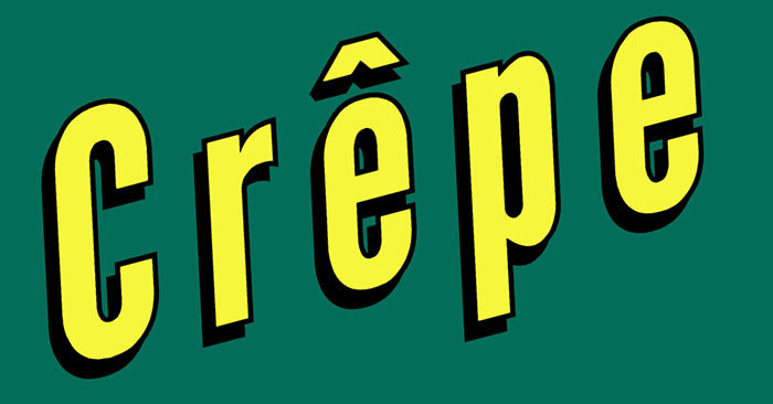 "French crepe facts: Why is there a little hat above the letter ""e"" in the word Crêpe?"