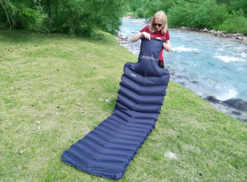 2 in 1 Inflatable Travel Pad / Neck Pillow (by LayOn)