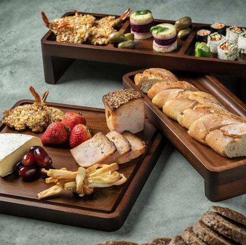 Versatile 3 Tier Acacia Cheese & Charcuterie Board Serving Tray Set