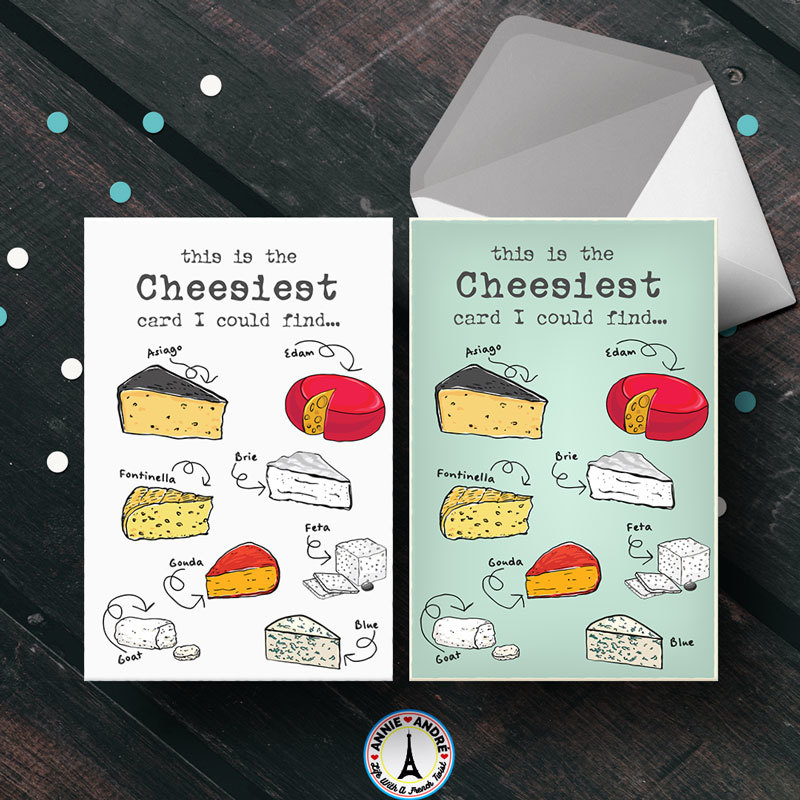 FEE Printable Greeting Card: This is the cheesiest card I could find (green and white versions)