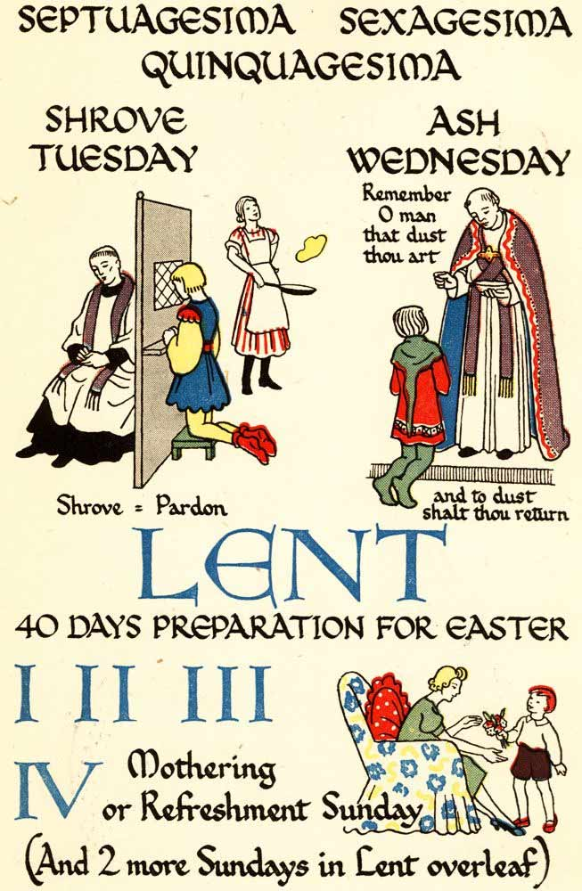 My book of church's years (Lent)