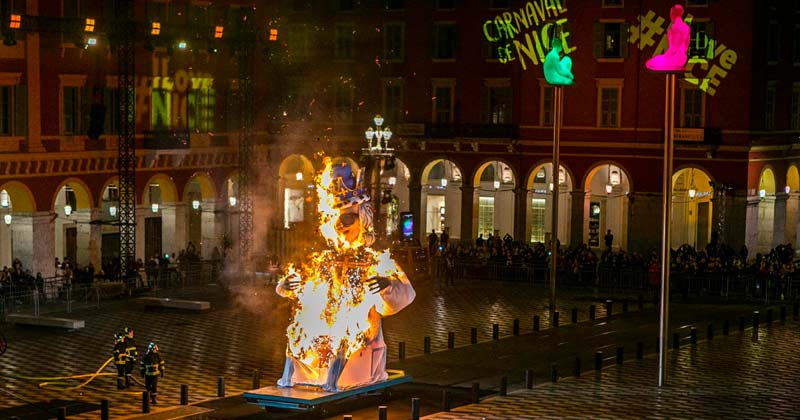Burning of the King of Carnival in Nice France, an annual tradition
