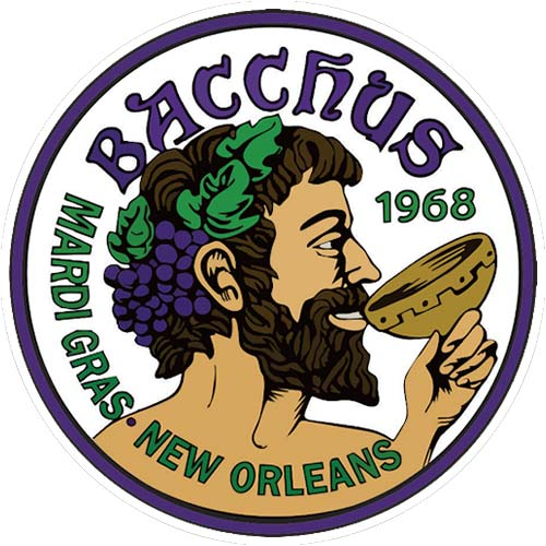 New Orelans Carnival super Krewe of Bacchus crest