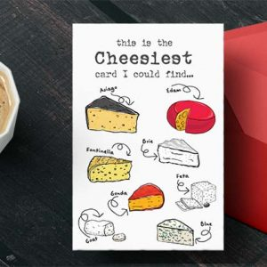 Free printable greeting card: This is the cheesiest card I could find: white