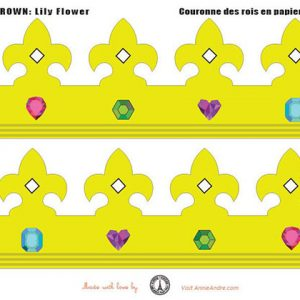 printable paper crown: for king cake or Epiphany