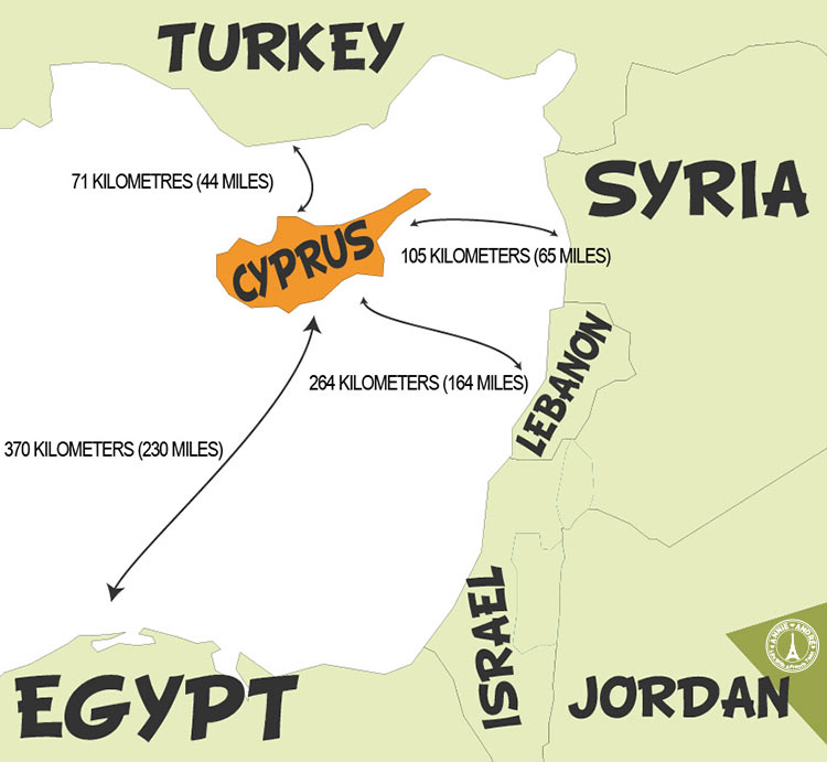 this is a map of Cyprus