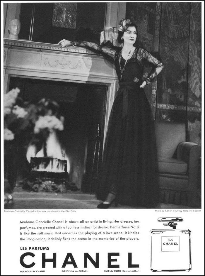 1937 Harpers magazine ad for Chanel no 5