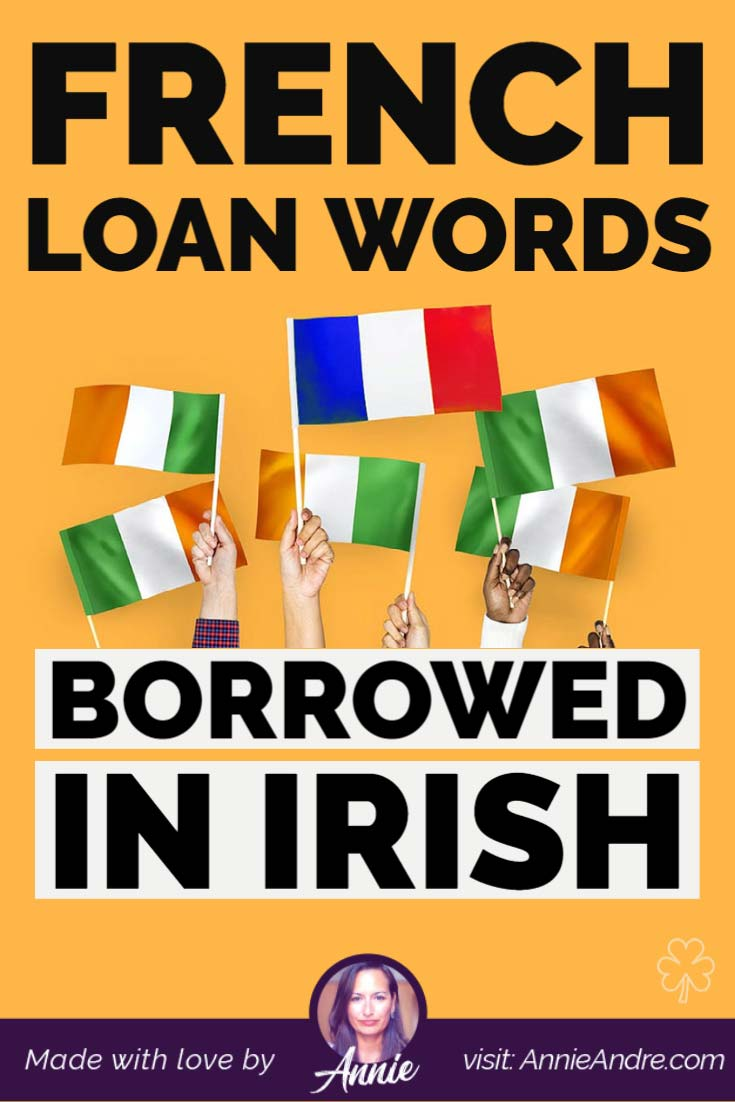 French loan words and names borrowed in the Irish language
