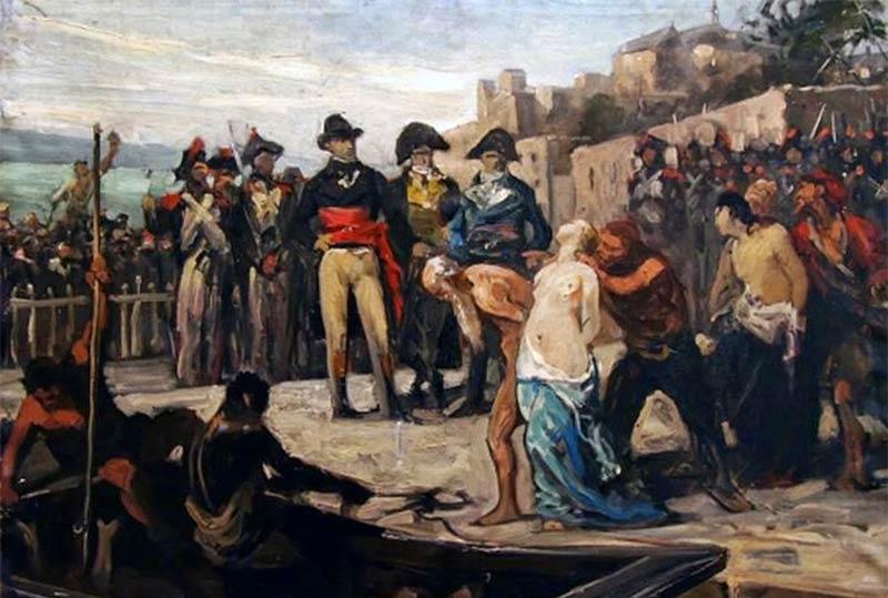 The Drownings at Nantes in 1793, painting by Joseph Aubert (1882), Musée d'art et d'histoire de Cholet