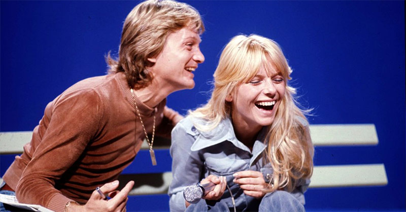 Claude François and France Gall during a rehearsal