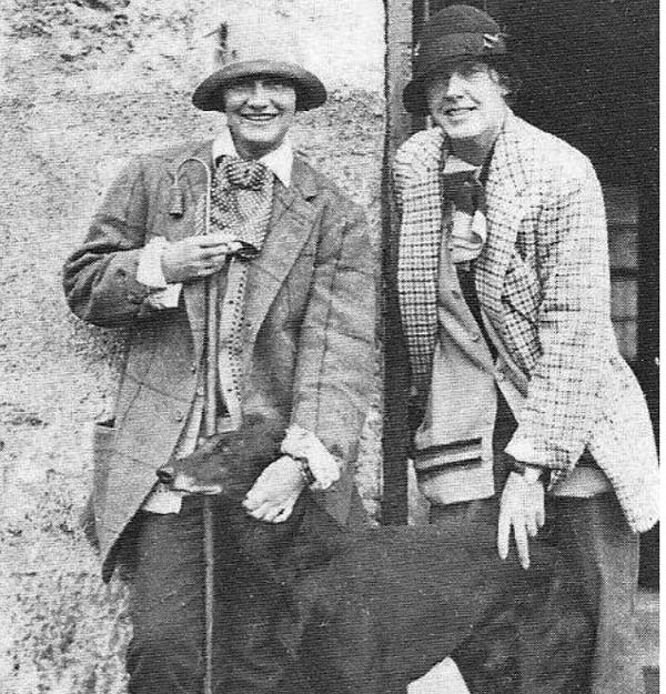 Vera Bate (Later Lombardi) in 1925 with Chanel left after fishing on Bendor's Scottish Rosehall Estate