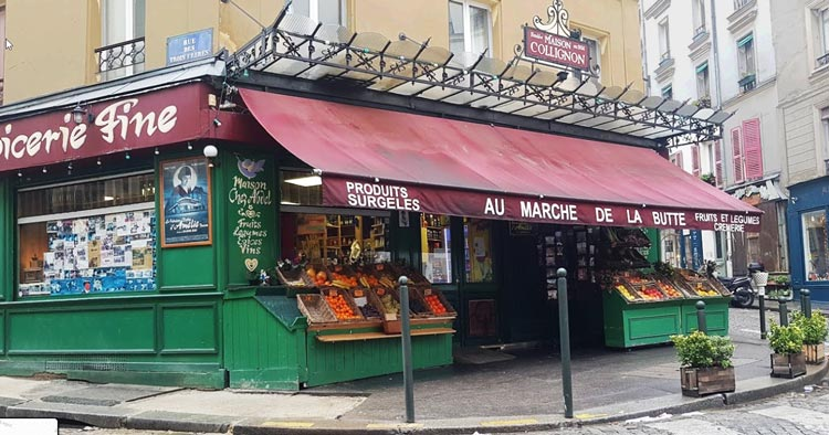 Marche de la butte: small food store where Amelie would stop from time to time