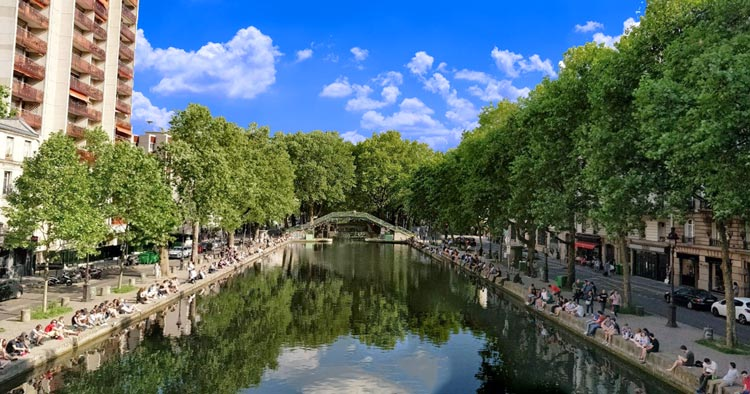 Canal Martin in Paris where Amélie skipped some stones into the water of the canal