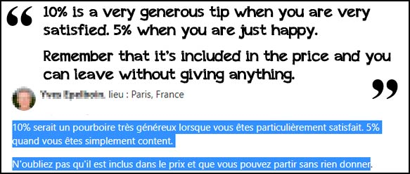 you don't have to tip in france
