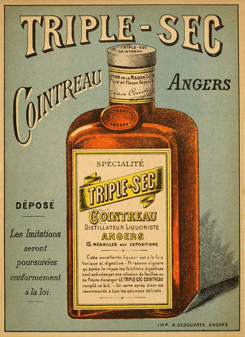 Triple Sec Cointreau Poster: French liqueur Aperitif and desert drink
